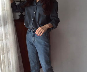 girls, bluejeans, and outfits image