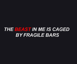 beast, black, and quote image