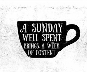 Sunday and cup image