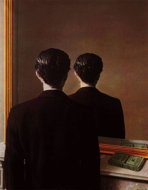 art, mirror, and rene magritte image