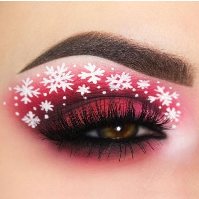 Christmas Makeup Party Look on We Heart It