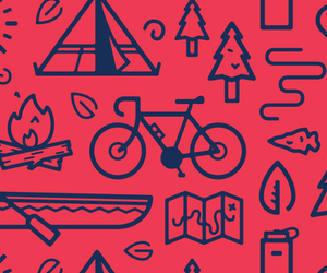 background, bicycle, and fire image