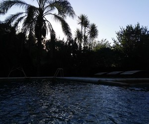 pool, sky, and summer image