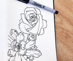 art, ink, and lifestyle image