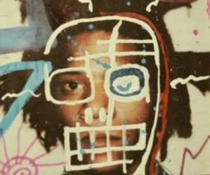 art, painting, and jean michel basquiat image