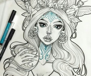 drawing, art, and fairy image