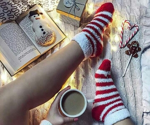 book, candy cane, and christmas image