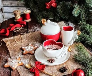 christmas, coffee, and holidays image