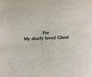 ghost, love, and poem image