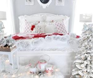 bedroom, chic, and christmas image
