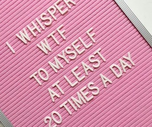 pink, quotes, and wtf image