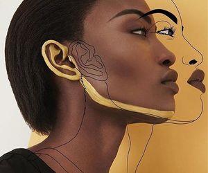 yellow, art, and black image