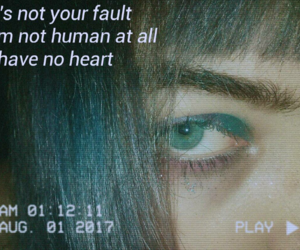 aesthetic, vhs, and dark grunge image