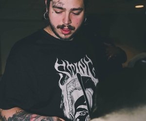 post malone, rapper, and Tattoos image