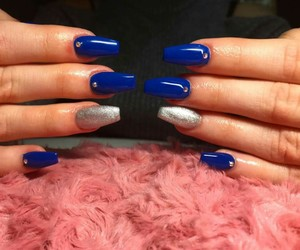 beauty, blue, and blue nails image