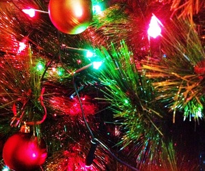 christmas, colorful, and ornaments image