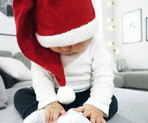 baby, christmas, and winter image