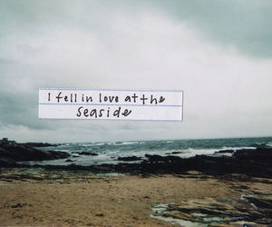 love, beach, and quotes image