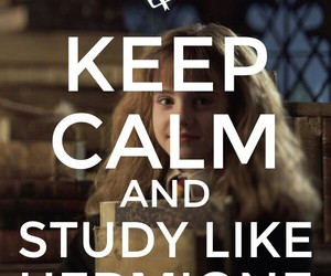harry potter, hermione, and study image