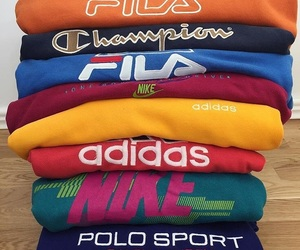 adidas, fashion, and Fila image