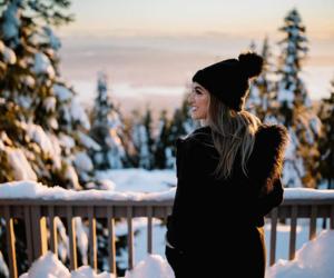 girl, snow, and tumblr image