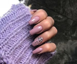 beauty, nails, and purple image