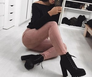 black, style, and suede image