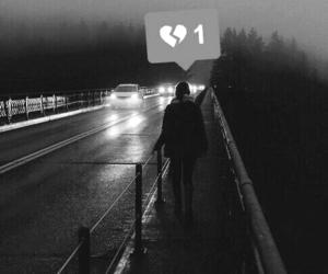 sad, broken, and alone image