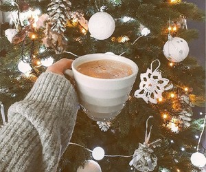 christmas, coffe, and decoration image