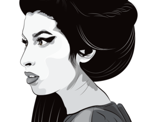 Amy Winehouse, disegno, and pixel image