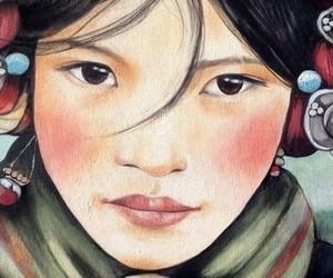 arte, dibujo, and mirada image