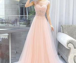 lace dress, pink dress, and dress for prom image