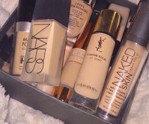 cosmetics, lipstick, and maquillaje image