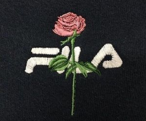 Fila, rose, and black image