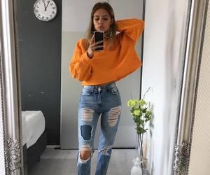 jeans and orange image