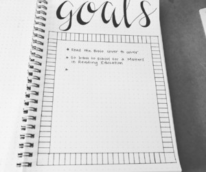 bullet, goals, and journal image