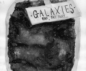 galaxy, stars, and art image