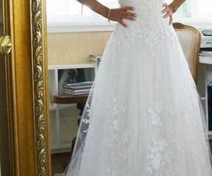 dress, woman, and wedding image