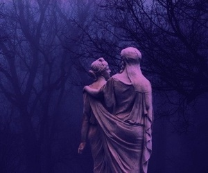 statue, art, and dark image