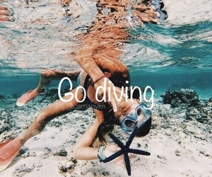 diving, experience, and want image