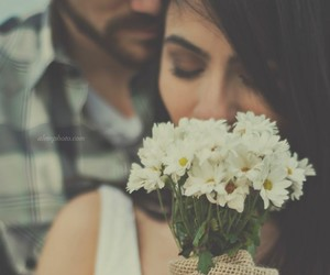 beautiful, flower, and couple image