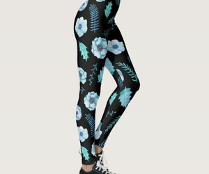 fashion, floral, and leggings image