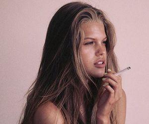 girl, smoke, and model image