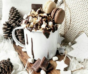 snow, winter, and chocolate image