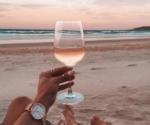 accessories, alcohol, and beach image