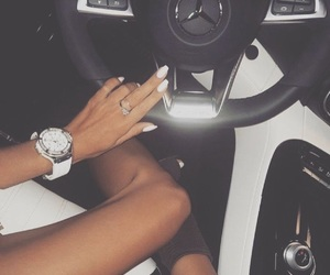 girl, car, and mercedes image