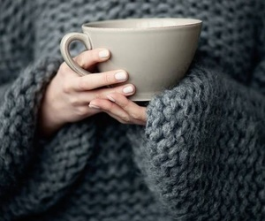 tea, coffee, and sweater image