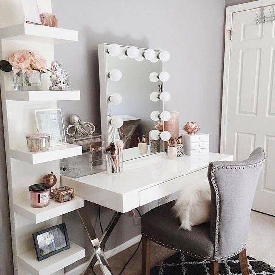 decoration, dressing table, and decoração image