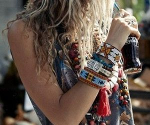 hippie, bracelet, and style image