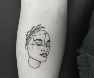 tattoo, black, and face image